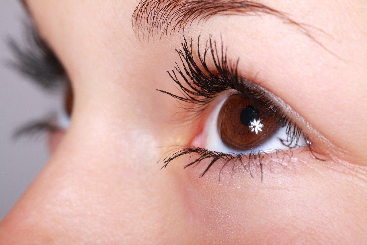 woman, beauty, eyelashes